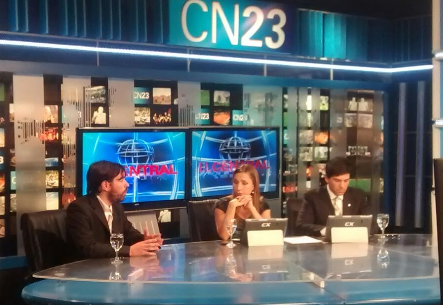 Nicolás del Caño en Noticiero Central, por CN23