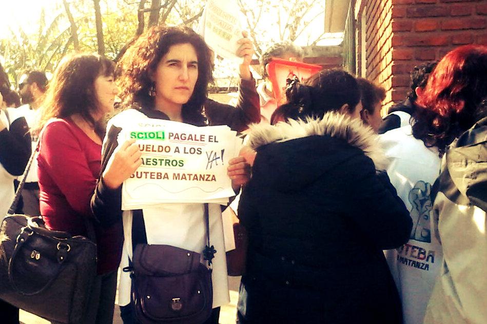 Por protesta docente, Scioli no pudo filmar spot de campaña