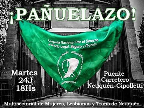 Puentazo Federal por el Aborto Legal en Neuquén