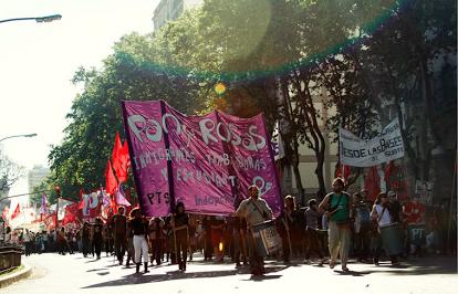 Marcha a dos años del asesinato de Mariano Ferreyra